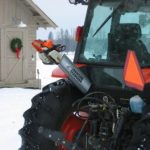 Chainsaw Scabbard on Tractor