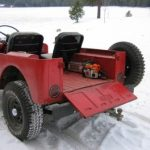 Chainsaw Scabbard on Jeep